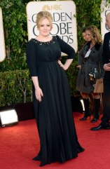 British leading mega pop star. It's Adele in Burberry black gown.