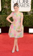 Young and fresh, it's Ariel Winter in colorful-flower dress by Valentino.