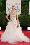 All mighty and royal. Julianne Hough in Monique Lhullier gown.
