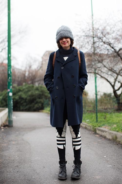 milan beanie and coat thesartorialist.com