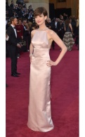 Anne Hathaway did the classic look with Prada