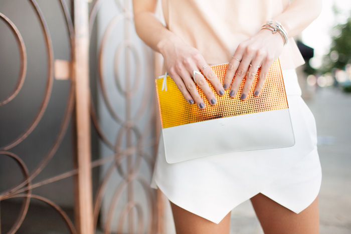 celine holographic clutch