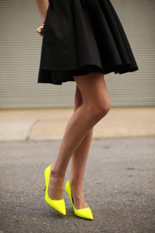 neon heels bonjour