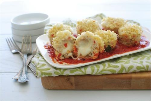 mini chicken parmesan meatloaf bevcooks.com