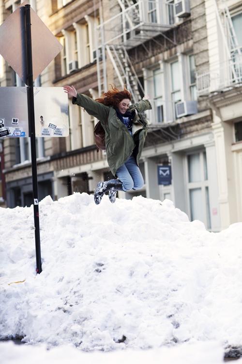 new york snow jump thesartorialist.com