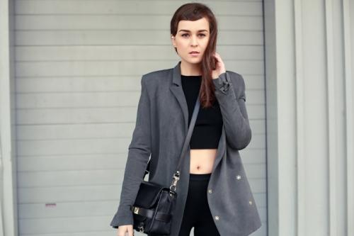acne blazer h&m trend top stylescrapbook.com