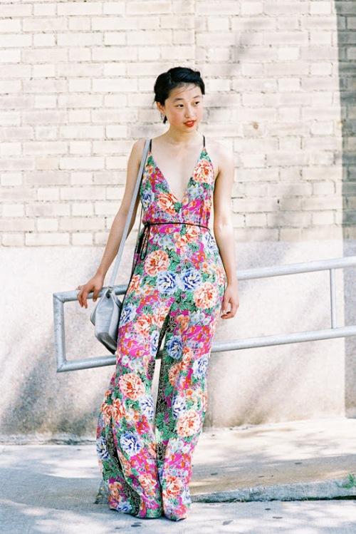 flower jumpsuit margaret zhang vanessajackman.blogspot.com