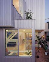 Metallic-exterior-of-the-Chayagasaka-Residence