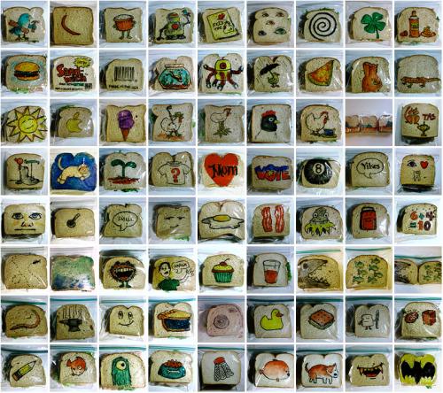 david laferriere sandwich bag art mymodernmet.com